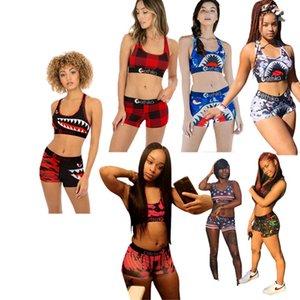 Womens Outfits Gallus + Pantalon 2 pièces Ensemble de pistes Jogging Sportsuit Strap gilet + Sweat SweatShit Pantalon Sport costume KLW0617