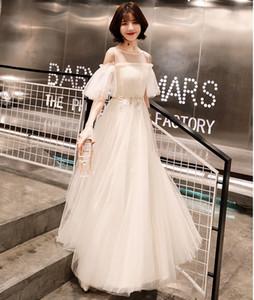 2021 New Appliques A-line Off the Shoulder Tulle Boho Gowns Vestido De Novia Princess Wedding Party Iq5i