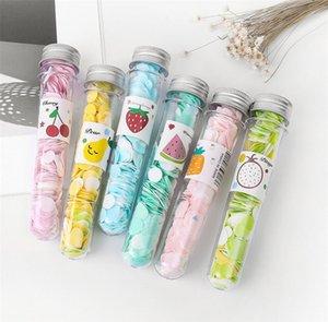 Reise Mini duftende Seife Bad Kind Hand Waschseife Papier Tube Tragbare Blütenblatt Obst Seife Blume Papier Zufällige Farben