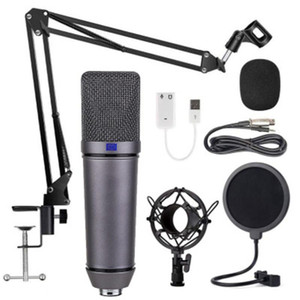 U87 Condenser Microphone Recording Stand Anchor Set K Song KTV Game Live Broadcast Karaoke PC DJ Audio for Sound Card