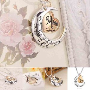 New European and American popular Mother's Day Necklace Love Pendant i love you mom sweater chain necklace