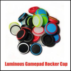 Ручка Геймпада нескользящая рокер Cap PS3 PS4 PS5 XBOXONE 360 Светящаяся шапка светящаяся Грибная головка двухцветная ручка силиконовая крышка