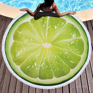 150 سنتيمتر ستوكات الفاكهة نمط بطانية 3d الطباعة شاطئ منشفة شرابات جولة شكل البطانيات بوريتو بطانية T9I001168