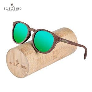 Bobo Bird Bird Sunglasses para homens mulheres UV400 personalizado em caixa de presente de bambu Dropshipping OEM X0125