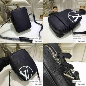 M54787 MEN BLACK BAG Hobo HANDBAGS TOP HANDLES BOSTON CROSS BODY MESSENGER Shoulder Bags