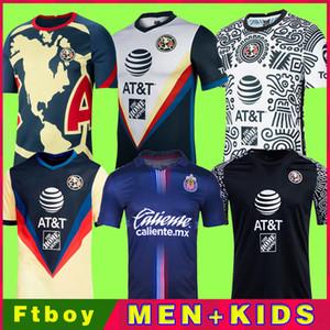 새로운 20 21 Club America 축구 유니폼 2020 2021 홈 멀리 세 번째 훈련 Tigres Chivas de Guadalajara Kit Camisas de Futebol 축구 셔츠