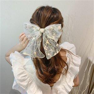 نساء العصابات الشعر أسود أبيض الأزهار الدانتيل bowknot طباعة دبوس الشعر scrunchie حامل الفتيات الشعر التعادل الملحقات