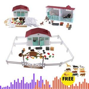 Çiftlik Anime Ev Simülasyon Tavukçuluk Hayvanlar Set At İnek Tavuk Figürinler Çiftlik Hayvanat Bahçesi Staffer Aksiyon Figürleri Oyuncaklar Çocuklar için Noel Hediye C0220