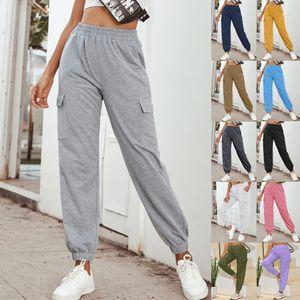2021 Womens Pants Fashion Casual Joggers Women Hip Hop High Waist Baggy Sweatpants Running Jogging Sport Pants Ladies Trousers Streetwear