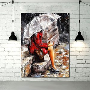 Canvas abstract modern female oil painting, high quality, hand drawn, portrait, art, mural with image, free delivery