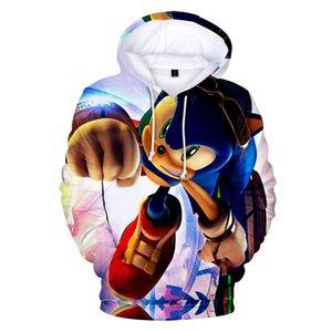 Anime Sonic The Hedgehog Sudadera con capucha para Baby Boys Sweatshirt Kids 3D Ropa de impresión Colorida Ropa Adolescente Chicas con capucha Sujetadores