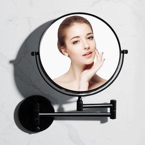 Зеркала ванной Настенный зеркало для макияжа Косметика Black Beauty Складной увеличительное стекло Нет Буровой установке телефона