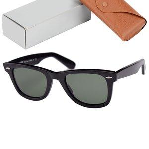 Top-Qualität-Strahlen 2140 Sonnenbrillen Männer Frauen Echte GALSS-Linsen Acetat-Rahmen Frauen Herren Sonnenbrille Oculos de Sol