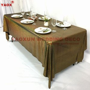 Table Cloth Laser Sequin Tablecloth Glitter Banquet Overlay For Wedding Event Party Decoration