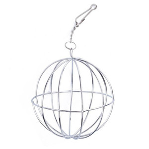 new hot sales Stainless Steel Round Sphere Feed Dispense Hanging Hay Ball Guinea Pig Hamster Rat Pet Toy