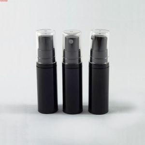 60pcs x 5ml Black Empty Plastic Cosmetic Containers Emulsion Airless sprayer Pump Bottles Vacuum Bottlehigh qualtity