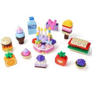 109pcs Early Enfants Grands Particules Puzzle Bâtiment Blocs de bâtiment Filles Jouer à la maison Jouet Colorful Snack Party for Kids Casual Assemblage 03