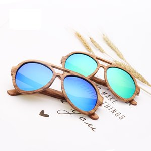 2021 New Brand Design Zebra Wood Sunglasses Men Polarized Lens Bamboo Sun Glass for Women Free Shipping 0ckq