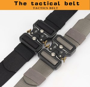 Fashion Tactical Men Belt True Nylon for Jeans Pants Canvas Army Style Belt Metal Buckle Designer Waist Belt Hunting Gift