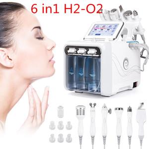 6 in1 H2-O2 Hydro Dermabrasion RF Bio-Heben-SPA-Gesichts-Ance-Pore-Reiniger Hydro-Mikrodermabrasionsmaschine Hautpflege-Werkzeuge DHL