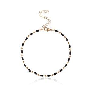 Anklets Geometric Anklet Bracelets Splicing Women Fashion Simplicity High Quality Chain Gold Color Zinc Alloy European Collier