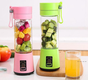 380ml Personal Blender Portable Mini Blender USB Juicer Cup Electric Juicer Bottle Fruit Vegetable Tools sea ship EWB5232