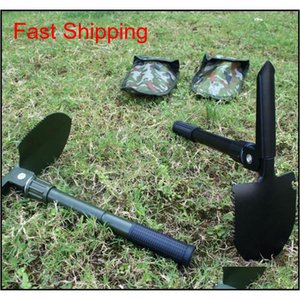 Folding Garden Spade Portable Small Engineer Shovel Fishing Utility Shovel Multi-purpose Outdoor Camping Ho qylVaL new_dhbest