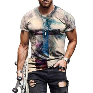 Men's T-Shirts 2021 Summer Fashion And Women's Cross Pattern Printing T-shirt Casual 3dt Elements Trendy Street Style Shirt