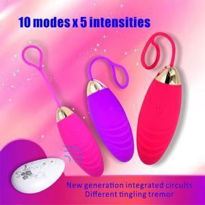 10 speed Silicone Jump Egg Vibrators for Women Wireless Remote Control vibrators clitoris stimulator USB Massage Adult Sex Toys