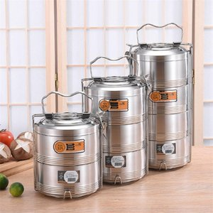 Large 2 3 4 Layer Stainless Steel Thermos Lunch Box Portable Thermal Insulation Food Container Office Picnic Bento Box sea shipping BWD8239