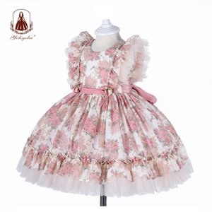 Yoliyolei Spanish Lolita Baby Dress Embroidery Girls Gowns Kids Child Princess 1st Birthday Party Clothes New Born Girls Dresses 210315