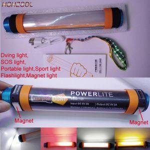 K25 방수 캠핑 랜턴 비상 조명 다이빙 USB 충전식 휴대용 IP68 야외 클램프 하이킹 스포츠 빛