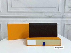 Tarjeta de cuero genuino Tarjeta de crédito Fold Follet Wallet Diseñadores de alta calidad Hombres Business Largos Carteras Brazza Monedero
