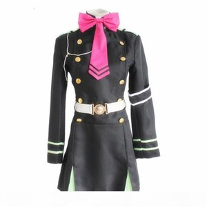 Serafón del extremo Owari No Serafu Vampire Reign Shinoa Hiiragi Escuela Cosplay Costume Uniforme militar Ropa de Halloween Conjunto
