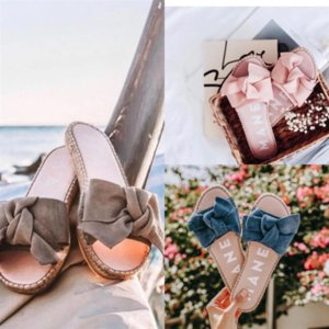 uin beach mujer mujeres diseñador zapatos marca bling zapatillas de cuero hembra de alta calidad sandalias sandalias deslizante zapatilla plano verano hotsale