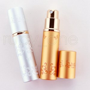5ml Perfume Bottle Portable Mini Aluminum Refillable Bottles Spray Empty Makeup Containers With Atomizer For Traveler Party Favor RRA4450