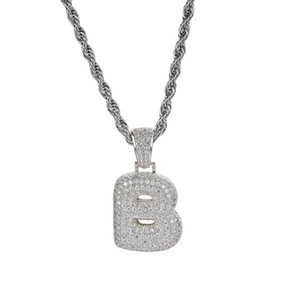 For Zircon CZ Pendant Letters Gold With Copper Hip Custom Hop Personalized Silver Name Iced Men's Necklace Rope Chain Gfcqn