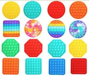 Pop It Fidget Toy Glowing Push Pop Bubble Sensory Fidget Sensory Toy Autism Anxiety Stress Reliever Increase Focus Soft Squeeze Toy