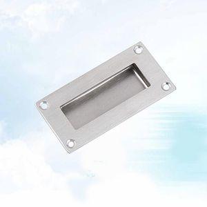 Handles & Pulls Sliding Door Handle Embedded Concealed Knob Stainless Steel Cabinet Drawer Buckle Type 1 Silver