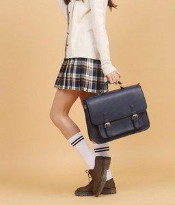 School Backpack Korea Handbag 2021 Young People Pu Bag High Capacity Unisex Vintage Leather Fashion Single Shoulders Solid Black Claret Business Designer Bags