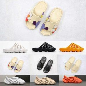 450 Kanye West Terlik Graffiti Dünya Kahverengi Kemik Ayakkabı Köpük Koşucu Racer Plaj 450 S Ayakkabı Eğitmenler Kadın İskelet Erkekler Sandalet Boyutu 36-45