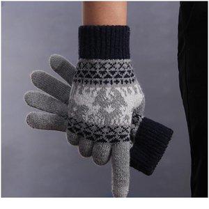 Перчатки Женщины Сенсорный Экран Зимние Перчатки Вязание Рождественские Перчатки Вождение Handscheneen Luvas de inverno Guant Jlloeo