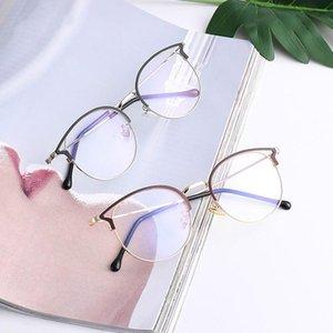Nuevas mujeres azul claro bloqueo de computadora gafas gato ojo anties azul rayos anteojos hembra llano espejo gafas marco gafas