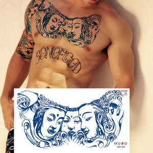 Exclusive for Cross-Border Herbal Flower Chest Tattoo Sticker Paper Semi-Permanent Tattoo Sticker Waterproof Sweat-Proof Customizable Tattoo