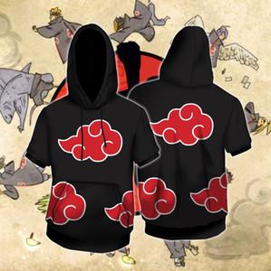 New T-shirt Naruto Organization Short Sleeve Cosplay Animation 3d Sweater Hoodie