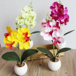 Simulation Blumen Fancy Vier Schmetterling Orchidee Fleischig Pflanze Bonsai Blume Arrangieren Zubehör Best Price