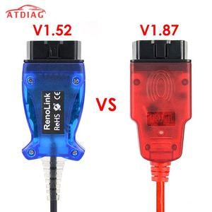 Hot RENOLINK V1.52 Car Diagnostic Cable Key  ECM UCH Programmer V1.87 OBD2 ECU Programmer for Renolink