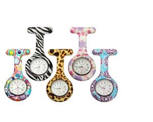 Nurse Doctor Quartz Silicon Batteries Watch Zebra Leopard Prints Pocket Kids Gift Watches 11 Colors Hot Sale YL352