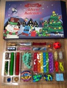 New! Fidget Toys Christmas Blind Box Favor 24 Days Advent Calendar Kneading Music Gift Boxes Countdown 2021 Children's gifts DHL v42