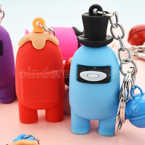 among us designers keychain Games Among Us Dolls Keychain Anime Cute Cartoon Colourful Keyrings Keychains Car Keys Accessories 2021